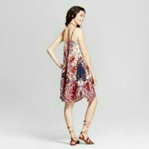 Xhilaration Handkerchief Strap Midi Dress